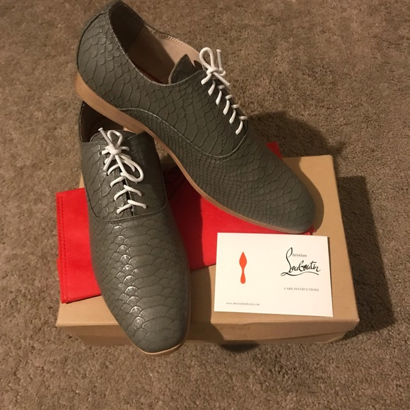 super popular 6d164 1338d Christian Louboutin Alfredo Loafers Grey